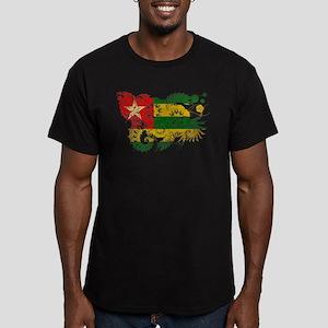 Togo Flag Men's Fitted T-Shirt (dark)