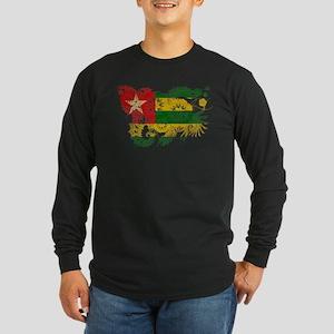 Togo Flag Long Sleeve Dark T-Shirt