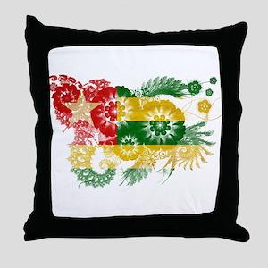 Togo Flag Throw Pillow