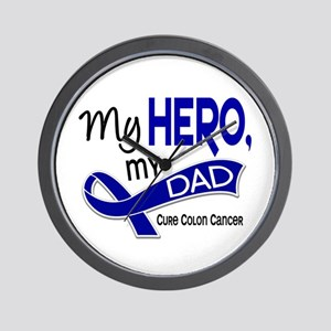 My Hero Colon Cancer Wall Clock
