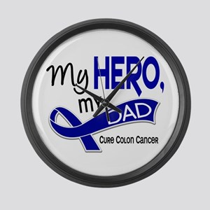 My Hero Colon Cancer Large Wall Clock