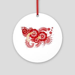 Turkey Flag Ornament (Round)