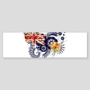 Turks and Caicos Flag Sticker (Bumper)