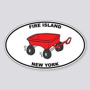 Fire Island Wagon Sticker (Oval 10 pk)