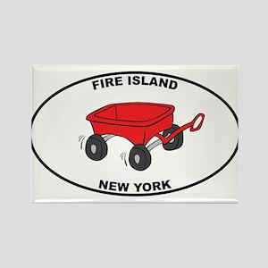 Fire Island Wagon Rectangle Magnet