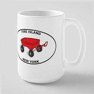 Fire Island Wagon Large Mug