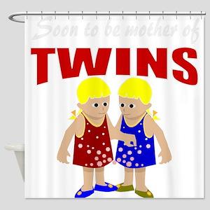 Cute twins maternity Shower Curtain