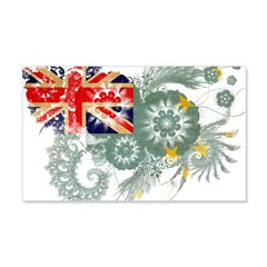 Tuvalu Flag 22x14 Wall Peel