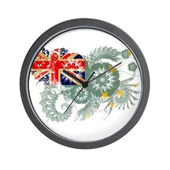 Tuvalu Flag Wall Clock