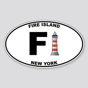 Fire Island Sticker (Oval)