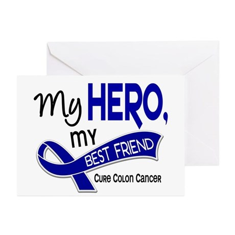 My Hero Colon Cancer Greeting Cards (Pk of 10)