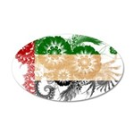 United Arab Emirates Flag 22x14 Oval Wall Peel