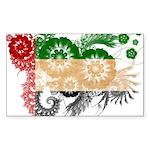 United Arab Emirates Flag Sticker (Rectangle 50 pk