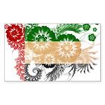United Arab Emirates Flag Sticker (Rectangle 10 pk