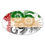 United Arab Emirates Flag Sticker (Oval 10 pk)