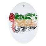 United Arab Emirates Flag Ornament (Oval)