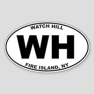 Watch Hill Fire Island Sticker (Oval)