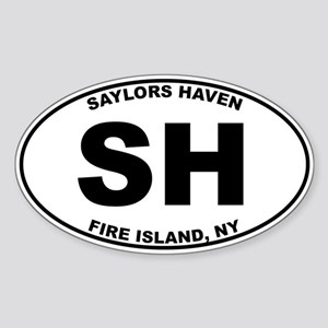Saylors Haven Fire Island Sticker (Oval)