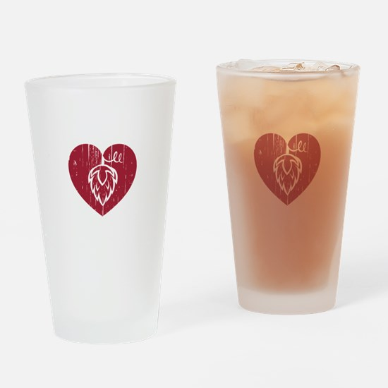 I Heart Hops Drinking Glass