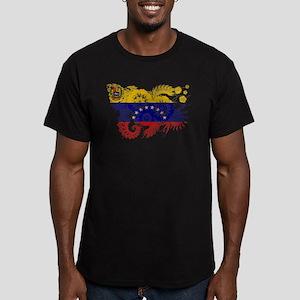 Venezuela Flag Men's Fitted T-Shirt (dark)