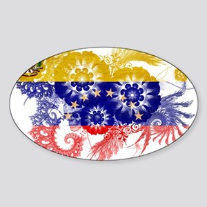 Venezuela Flag Sticker (Oval)