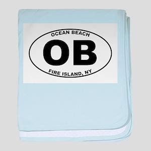 Ocean Beach Fire Island baby blanket