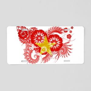 Vietnam Flag Aluminum License Plate
