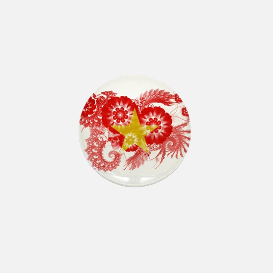Vietnam Flag Mini Button