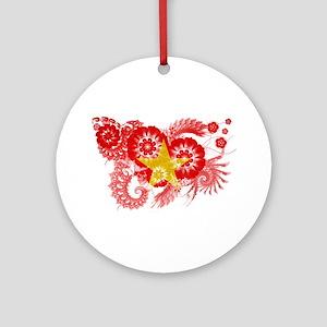 Vietnam Flag Ornament (Round)