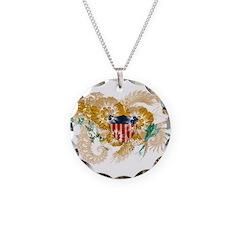 Virgin Islands Flag Necklace