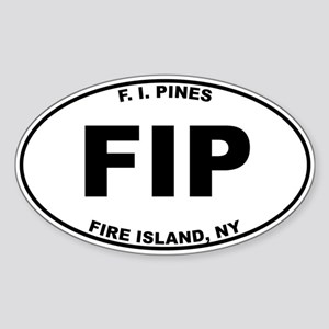 Fire Island Pines Sticker (Oval)