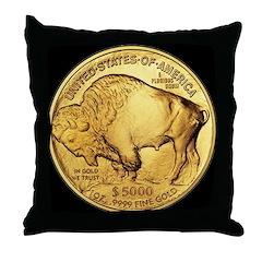 Black-Gold Buffalo Throw Pillow
