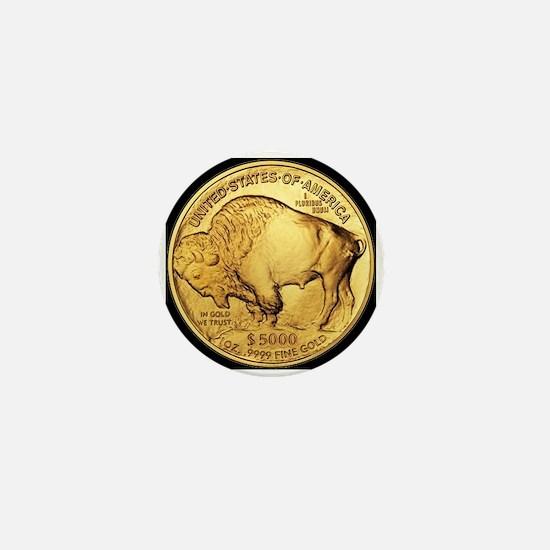 Black-Gold Buffalo Mini Button