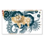 Wyoming Flag Sticker (Rectangle 50 pk)
