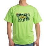 Wyoming Flag Green T-Shirt