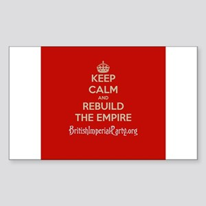 Keep Calm And... Sticker (Rectangle)