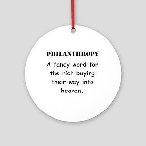 Philanthropy Ornament (Round)