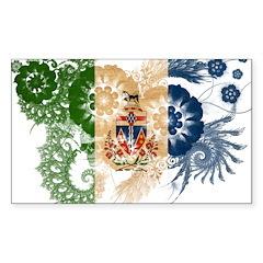 Yukon Territories Flag Sticker (Rectangle 50 pk)