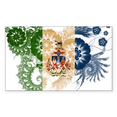 Yukon Territories Flag Sticker (Rectangle 10 pk)