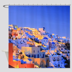 Santorini Evening Shower Curtain