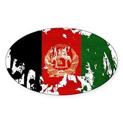 Afghanistan Flag Sticker (Oval 50 pk)