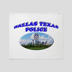 Dallas PD Skyline Throw Blanket