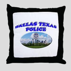 Dallas PD Skyline Throw Pillow