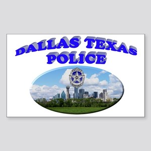 Dallas PD Skyline Sticker (Rectangle)