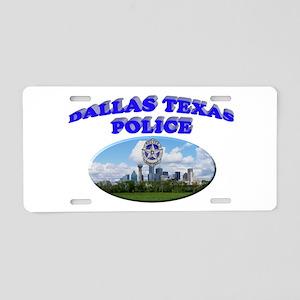Dallas PD Skyline Aluminum License Plate
