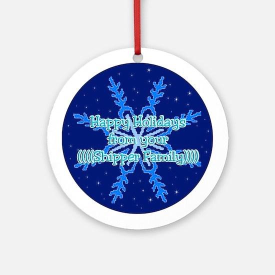 Shipper Family Ornament (Round)
