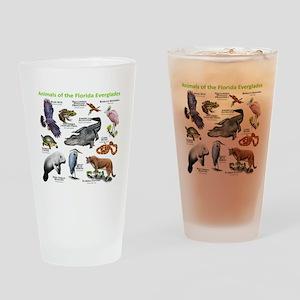 Animals of the Florida Everglades Drinking Glass