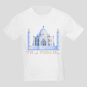 """""""Pixel Taj Mahal"""" Kids Light T-Shirt"""