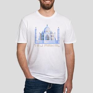 """""""Pixel Taj Mahal"""" Fitted T-Shirt"""