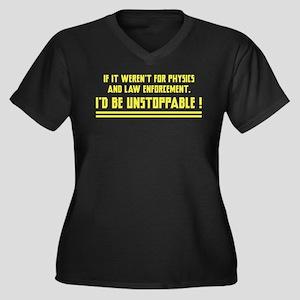 I'd Be Unstoppable Women's Plus Size V-Neck Dark T